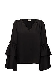 VICATNISS L/S TOP - BLACK