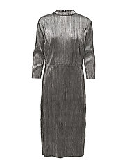 VISILVI 3/4 SLEEVE DRESS - SILVER COLOUR