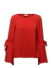 VIABELLA L/S TOP - FIERY RED