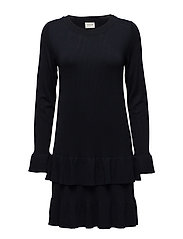 VIMINTE L/S KNIT DRESS - TOTAL ECLIPSE