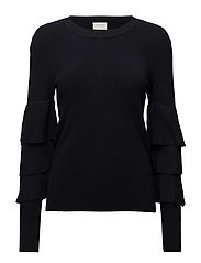 VIMINTE L/S KNIT TOP - TOTAL ECLIPSE