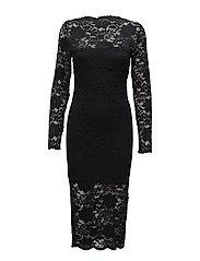 VIGRIT L/S DRESS/1 - BLACK