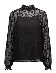 VIENYA L/S TOP - BLACK