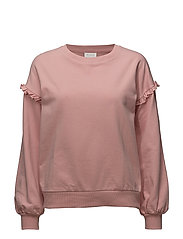 VILOVELY L/S SWEAT TOP - BRIDAL ROSE