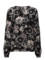 VIASTHA L/S TOP - BLACK