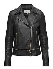 VINICOLA LEATHER JACKET - BLACK
