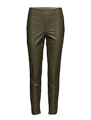 VIPALE FAUX LEATHER 7/8 LEGGINS - IVY GREEN