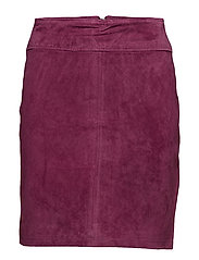 VIMISS SUEDE SKIRT - PURPLE POTION