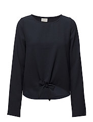 VISALINA L/S KNOT TOP - TOTAL ECLIPSE