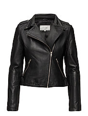 VIELLAS LEATHER JACKET/2 - BLACK