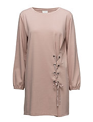 VIDELIA DRAWSTRING DRESS - ADOBE ROSE