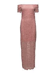 VIZALLY OFF SHOULDER MAXI DRESS/DC - BRIDAL ROSE