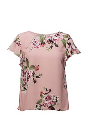 VILUCY S/S FLOUNCE TOP - FAV - BRIDAL ROSE