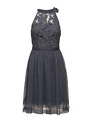 VIZINNA S/L DRESS/DC - GRISAILLE