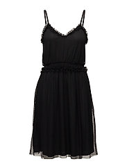 VIMINDI STRAP DRESS - BLACK