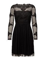 VIGEORGIOUS L/S DRESS/DC - BLACK