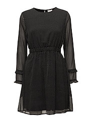 VIDOTLY L/S DRESS - BLACK