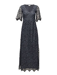 VILAWA LACE MAXI DRESS/DC - GRISAILLE