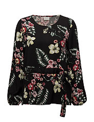 VIJONNA L/S TOP - BLACK