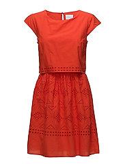 VISIMMI CAPSLEEVE DRESS - ORANGE.COM