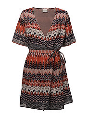 VISANDRO DAIMA S/S SHORT DRESS - ORANGE.COM