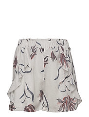 VINANDI RUFFLE SHORTS - CLOUD DANCER