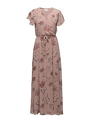 VISAFFA NANDI S/S MAXI DRESS - ADOBE ROSE