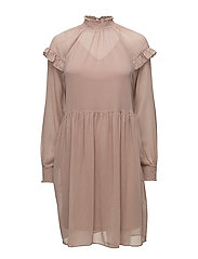VIMULLA L/S DRESS - ADOBE ROSE