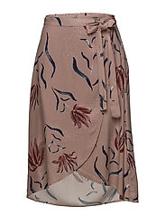 VINANDI WRAP MIDI SKIRT - ADOBE ROSE