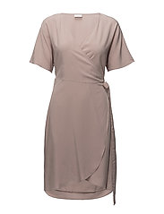 VILIBA S/S WRAP DRESS - ADOBE ROSE