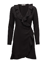 VITAJA WRAP DRESS /RX - BLACK