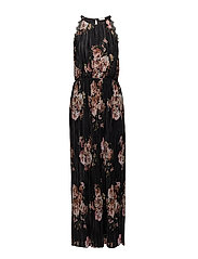VIB MAXI S/L DRESS - BLACK