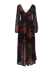 VIMELAKI 3/4 SLEEVE MAXI DRESS - BLACK