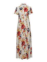 VIROSALINA S/S MAXI DRESS - CLOUD DANCER