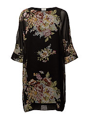 VIOLISI NEW 3/4 DRESS - BLACK