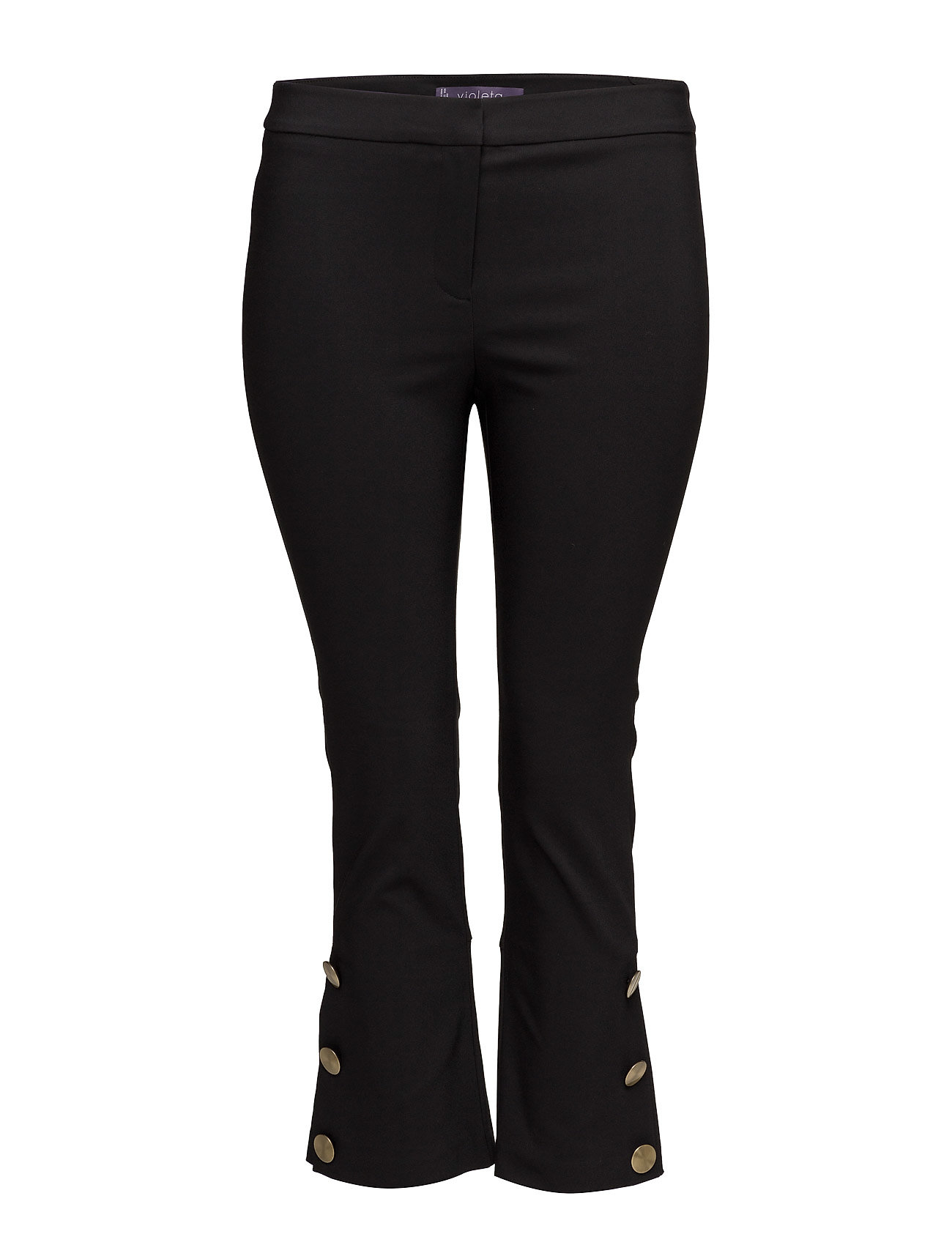 Cropped Button Pants Violeta by Mango Boot Cut til Damer i Sort