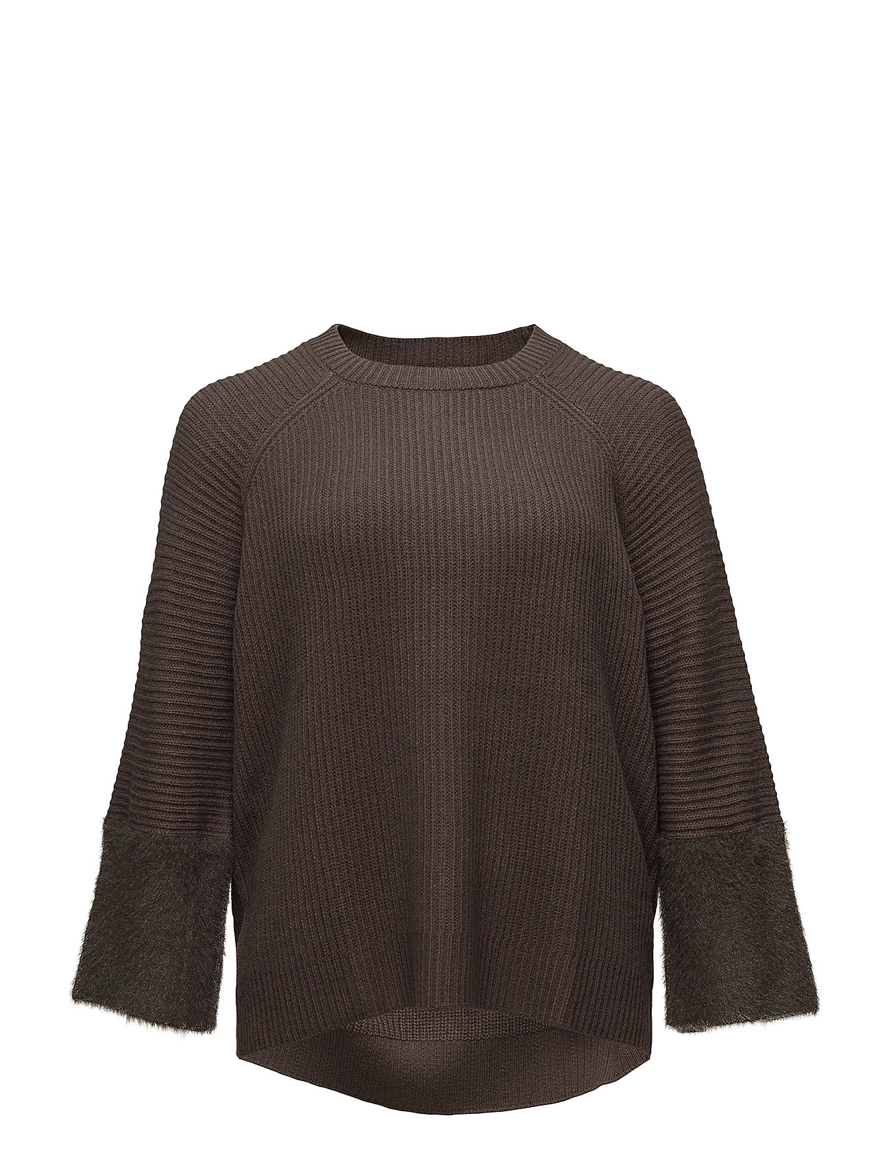 violeta by mango Texture sleeve sweater på boozt.com dk