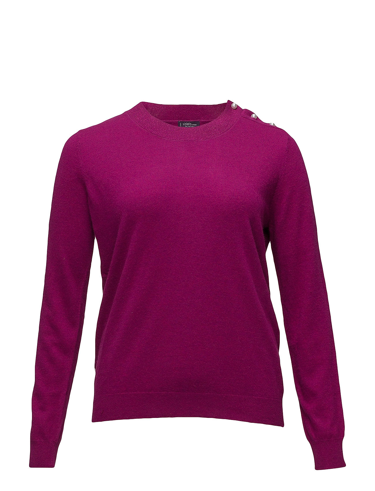 Image of Pearl Embroidery Appliqu Sweater (2778819247)
