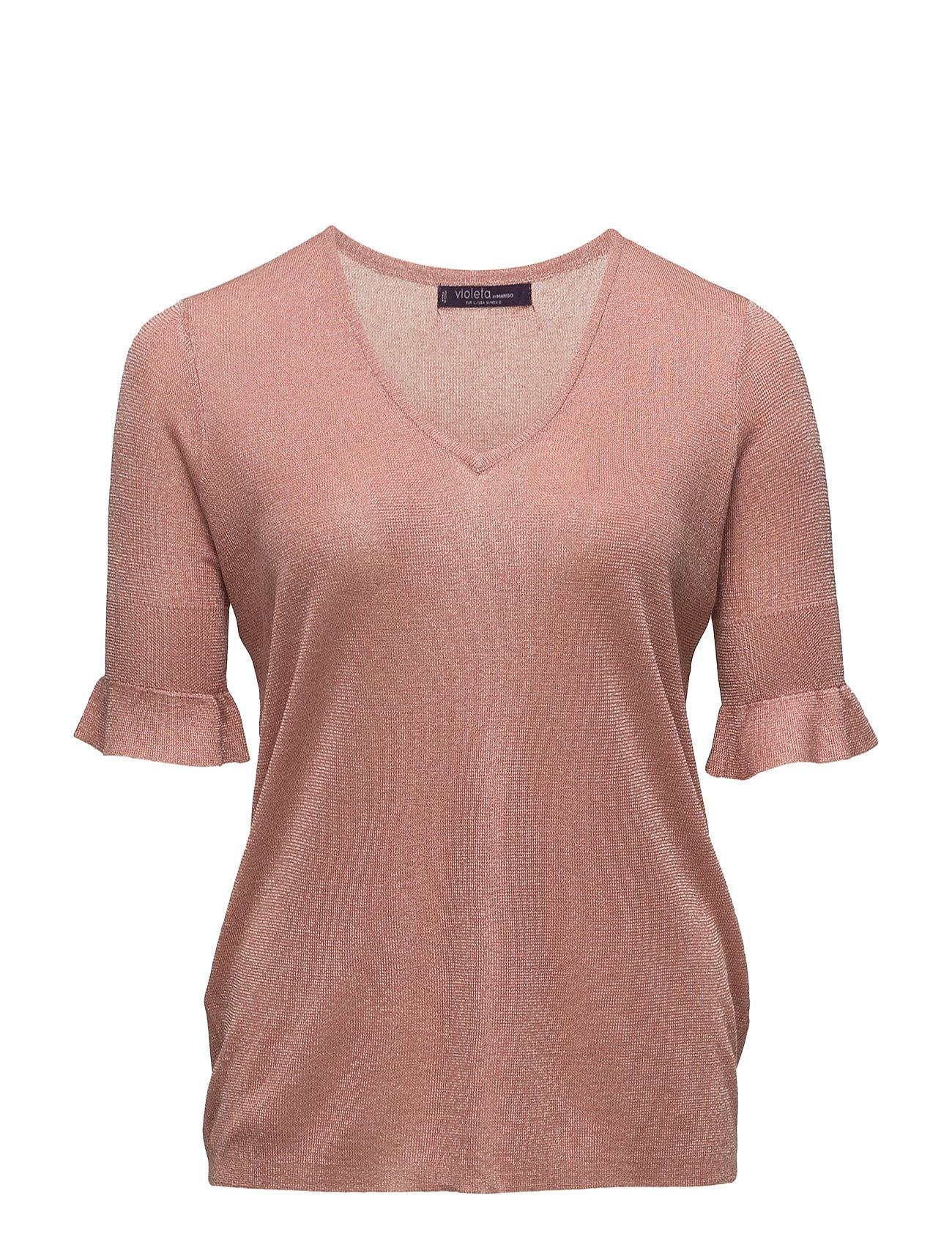 Ruffled Detail Sweater Violeta by Mango Sweatshirts til Damer i Lt-Pastel Orange