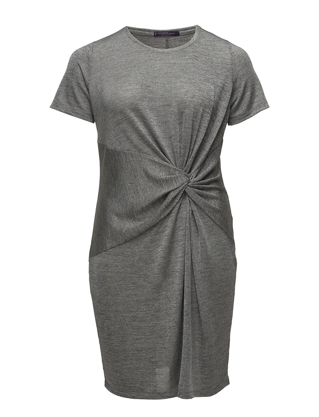 Knotted Dress Violeta by Mango Korte kjoler til Damer i Grå