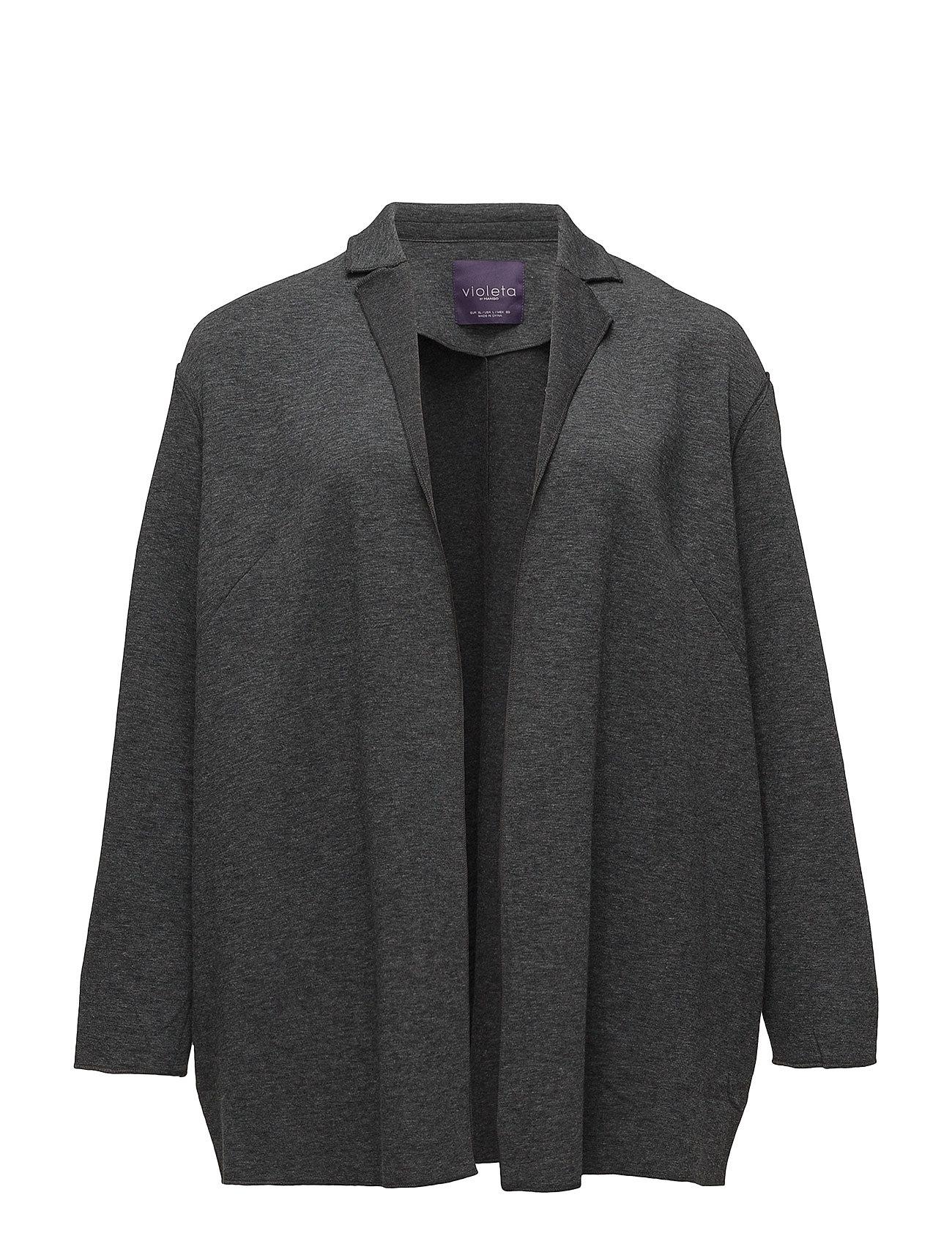 Flecked unstructured blazer fra violeta by mango på boozt.com dk