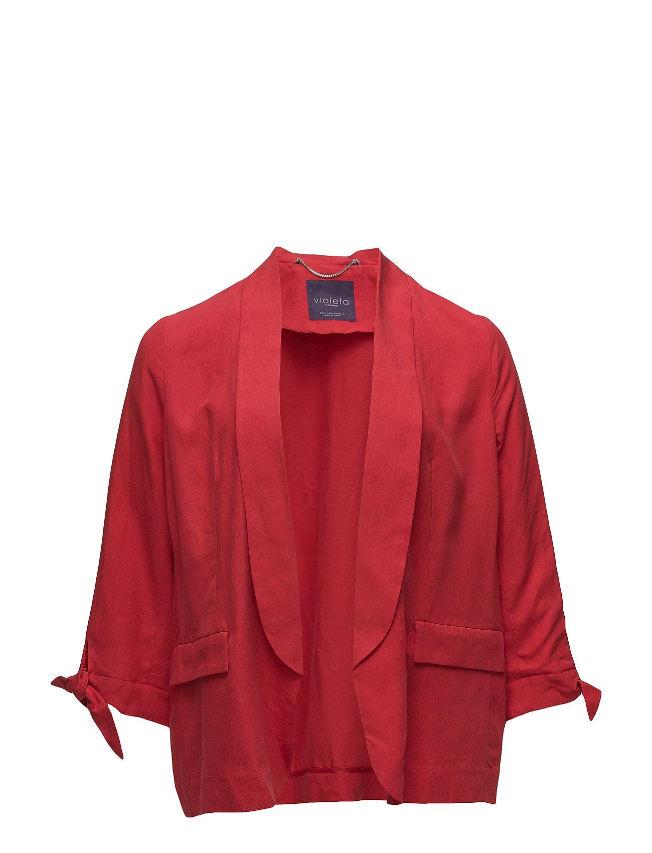 Soft Linen-Blend Jacket Violeta by Mango Blazere til Damer i Rød