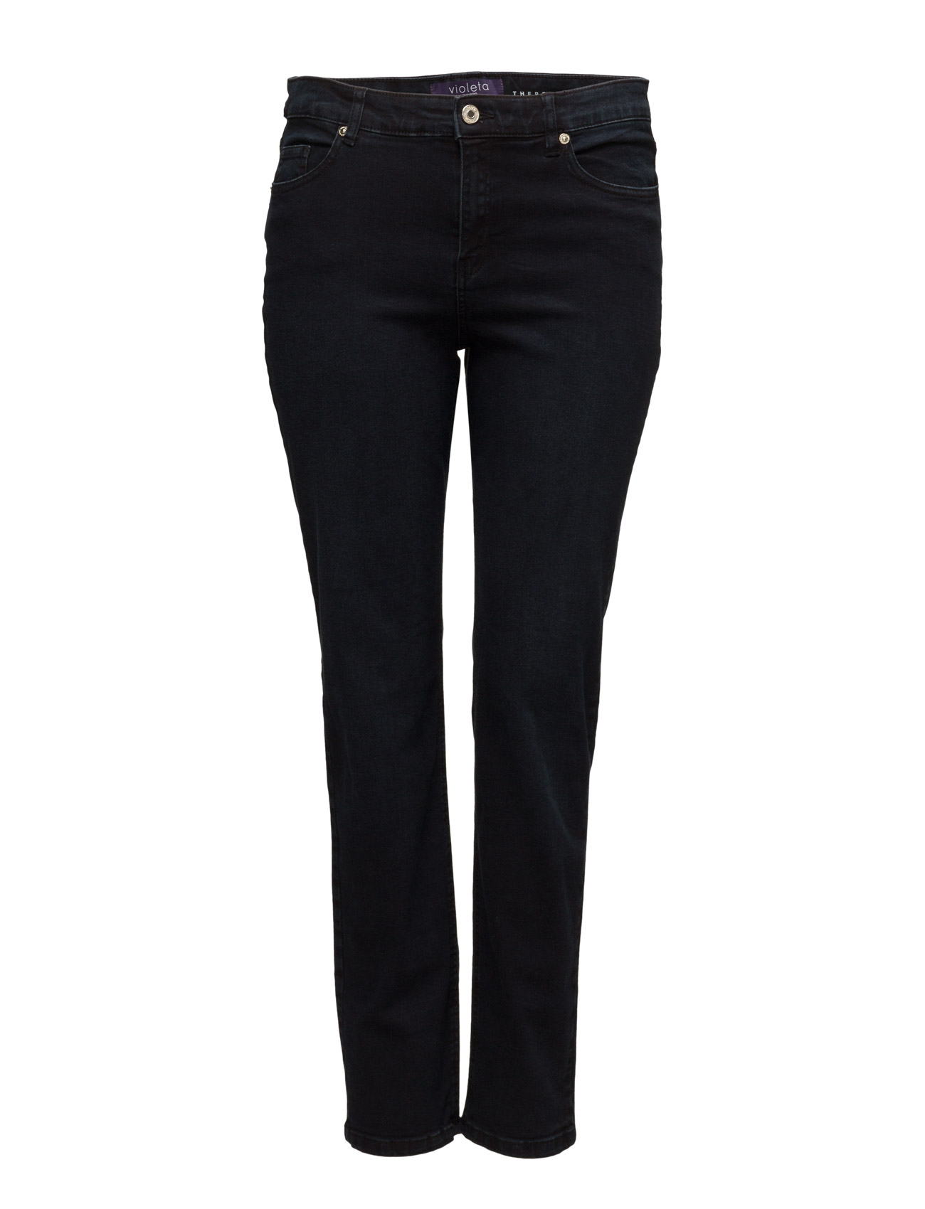 Straight-Fit Theresa Jeans Violeta by Mango Bukser til Kvinder i Open Blå