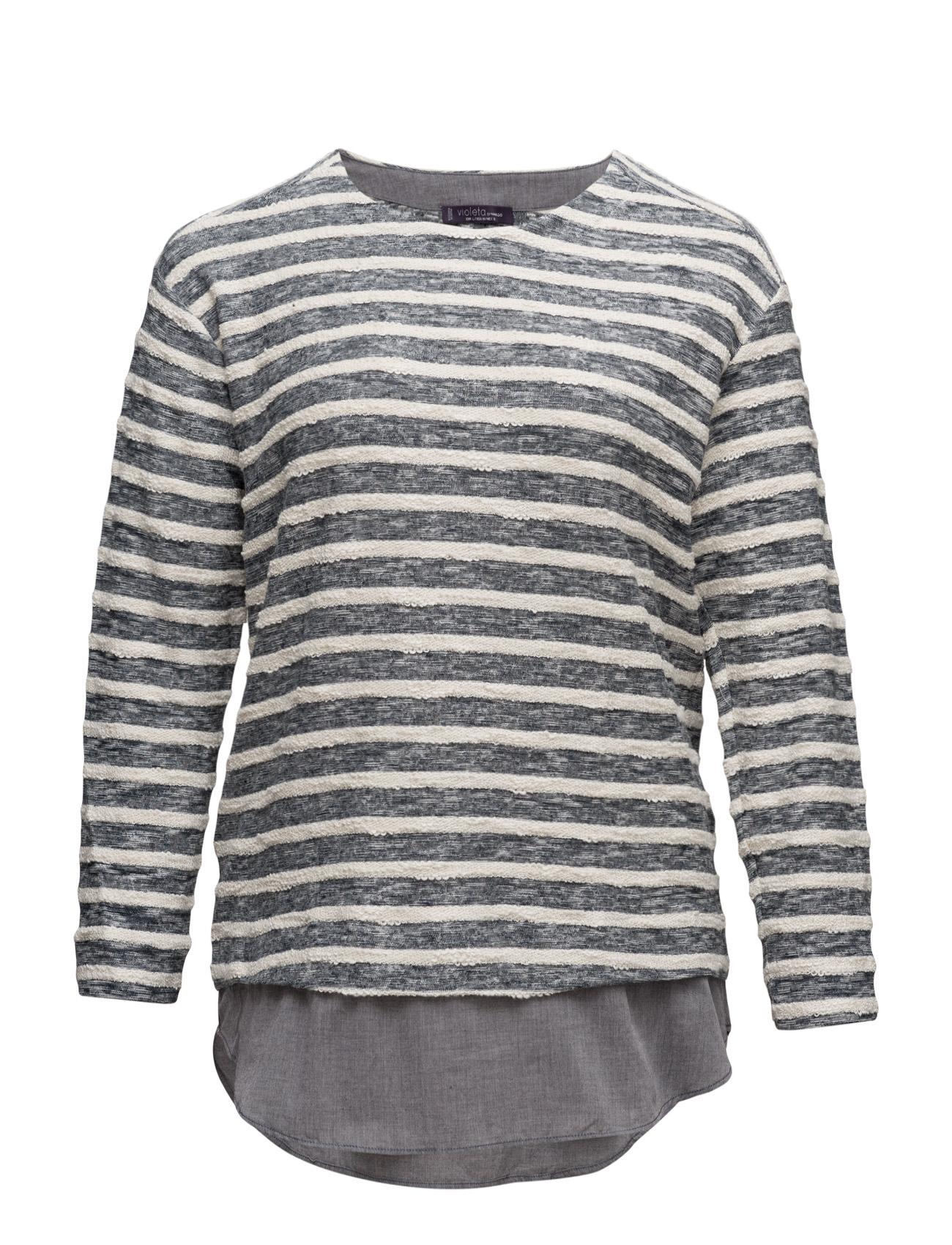 Textured Cotton-Blend Sweatshirt Violeta by Mango  til Kvinder i Mellem grå