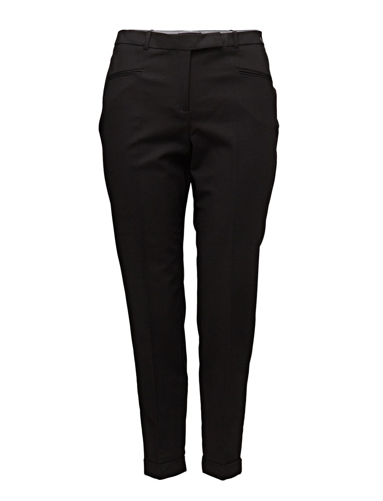Cotton Suit Trousers Violeta by Mango Bukser til Kvinder i Sort