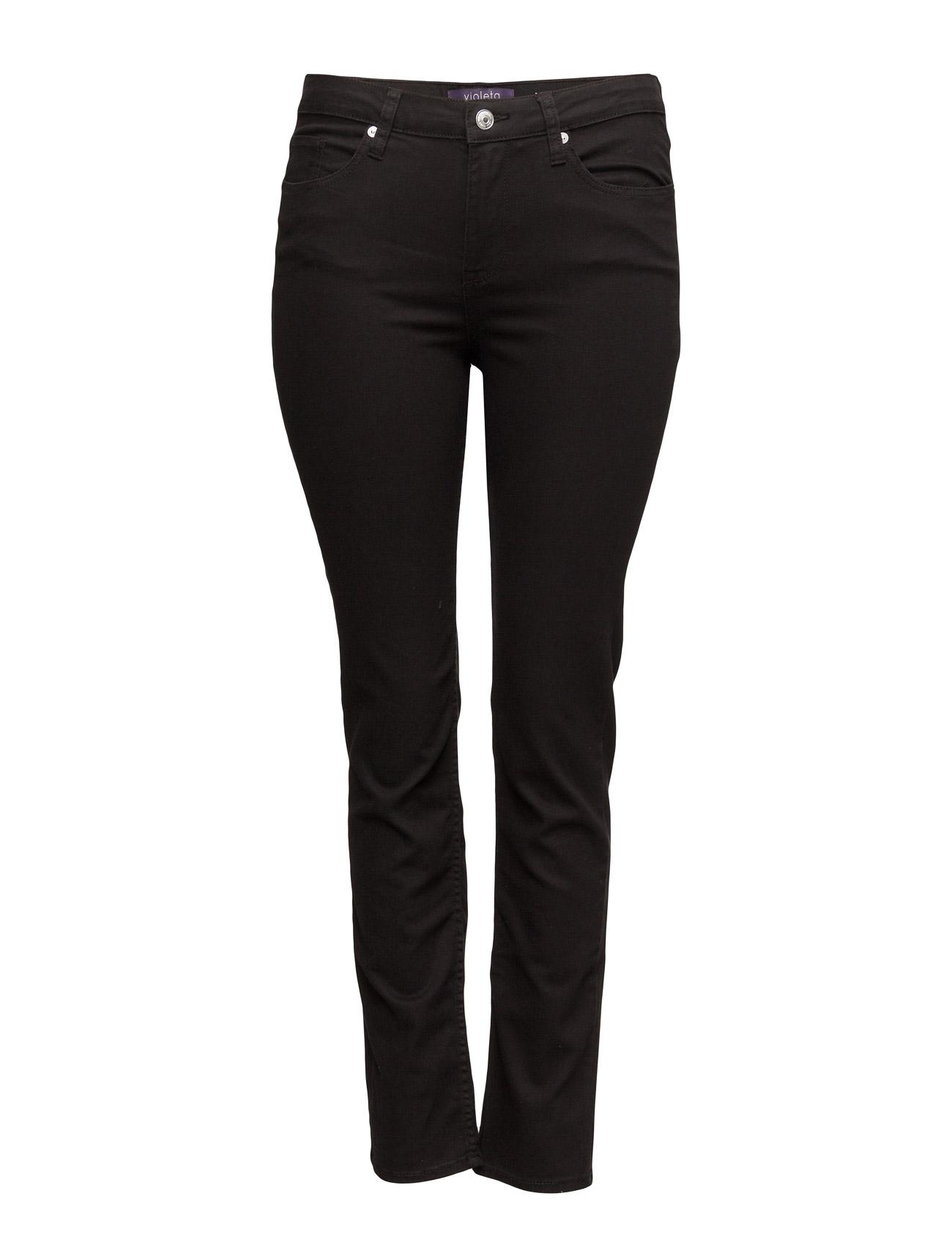 Slim-Fit Julie Jeans Violeta by Mango Skinny til Kvinder i Sort