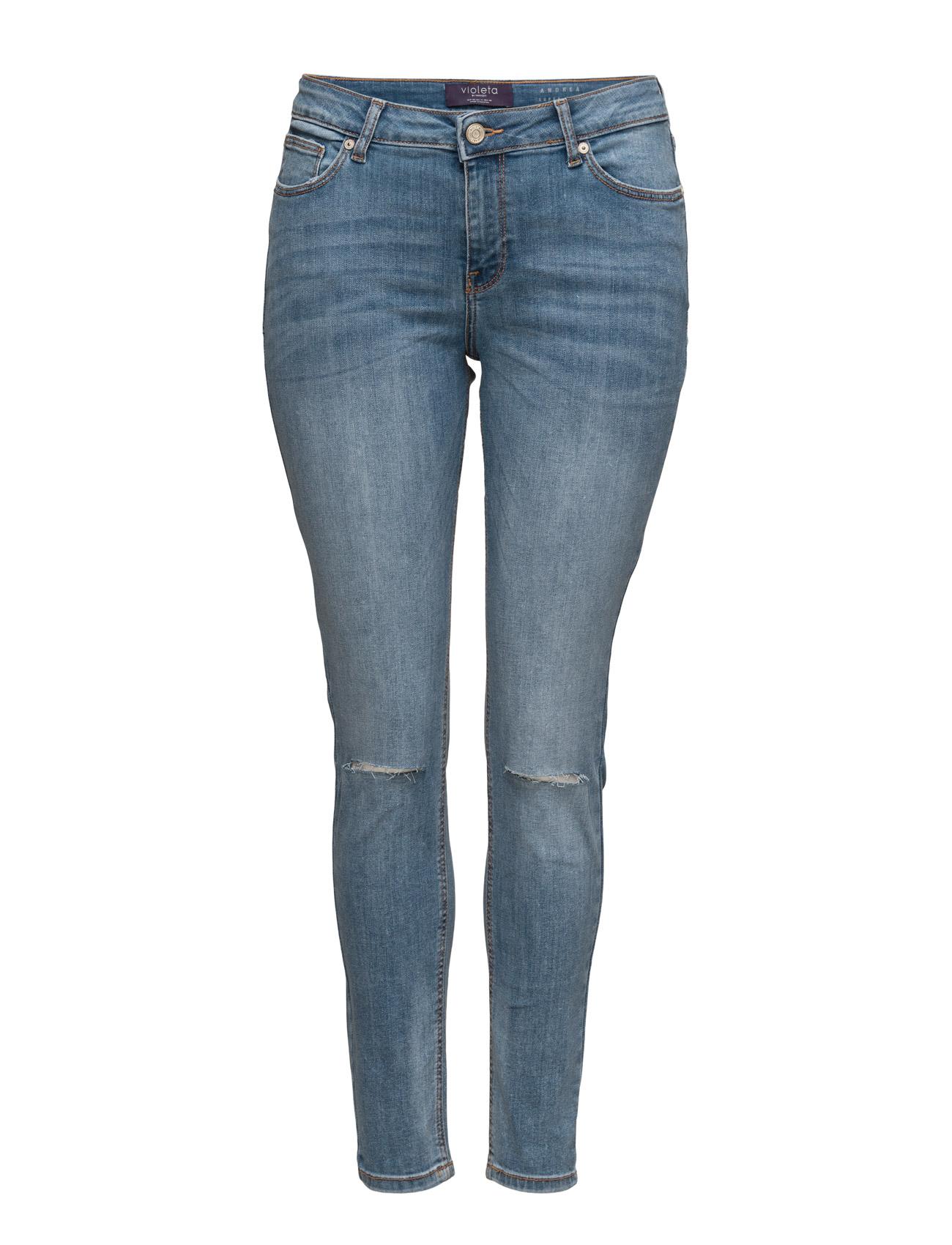 Super Slim-Fit Andrea Jeans Violeta by Mango Skinny til Kvinder i Open Blå