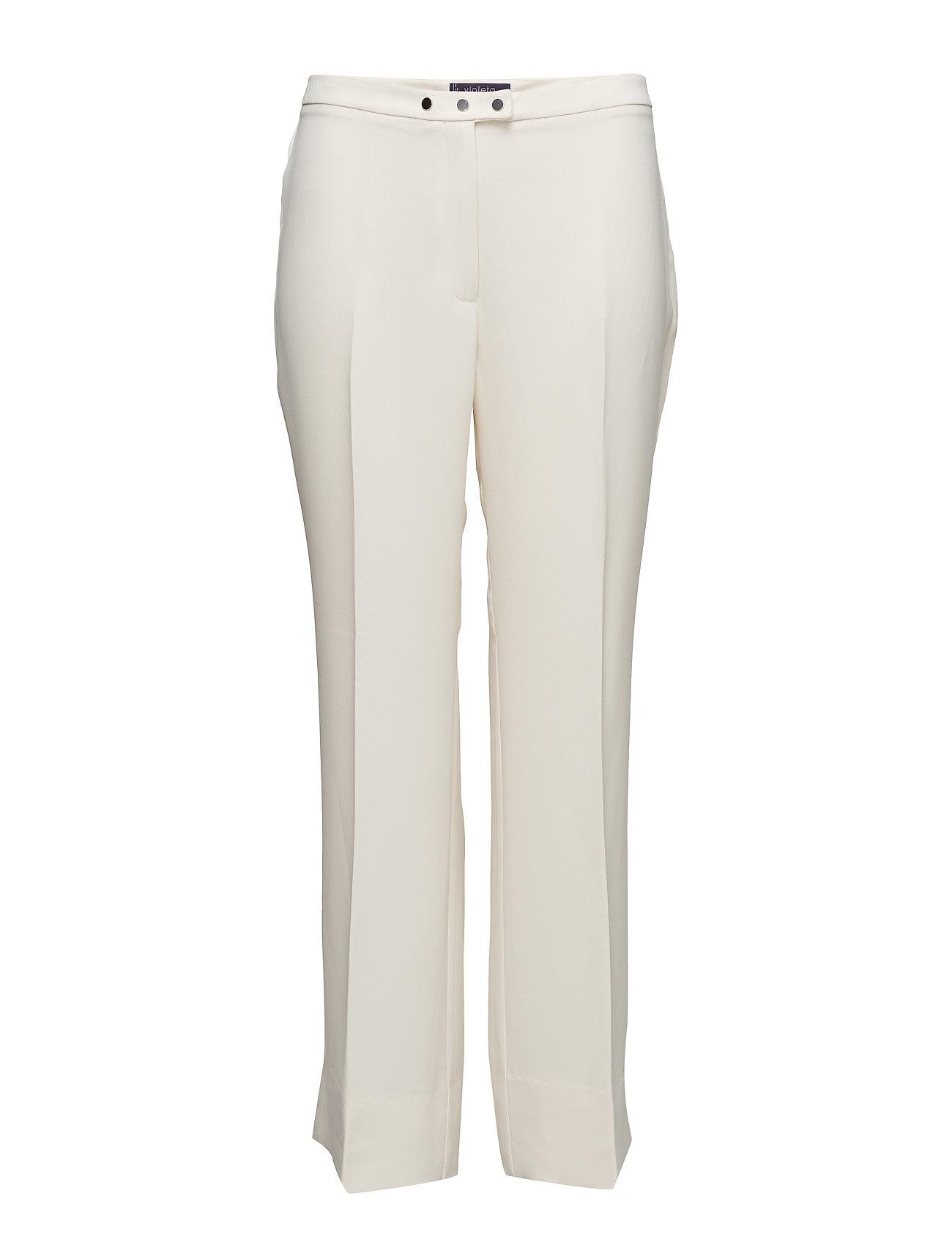 Flowy Straight-Fit Trousers Violeta by Mango Bukser til Damer i Light Beige
