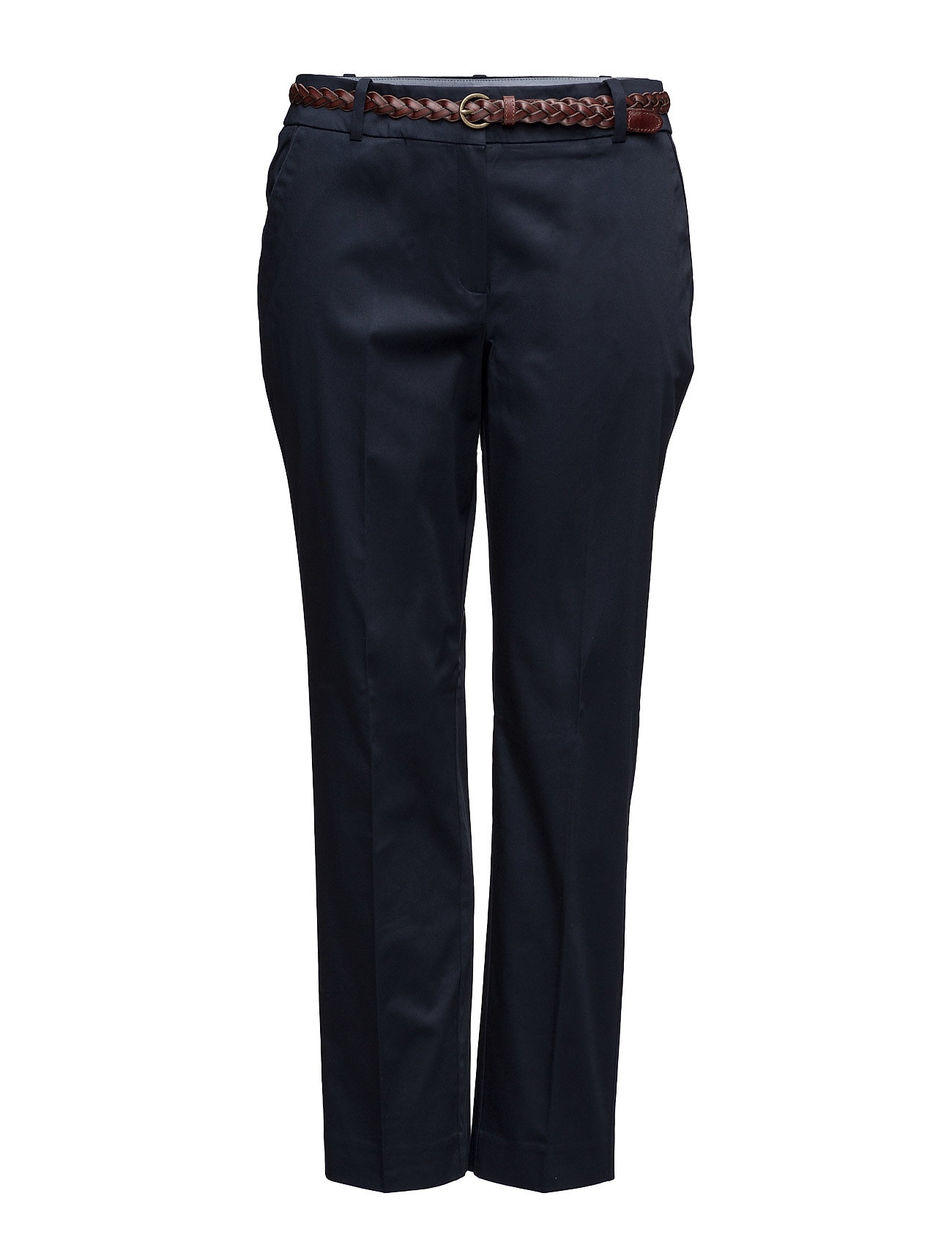 Belt Cotton-Blend Trousers Violeta by Mango Bukser til Damer i Navy blå