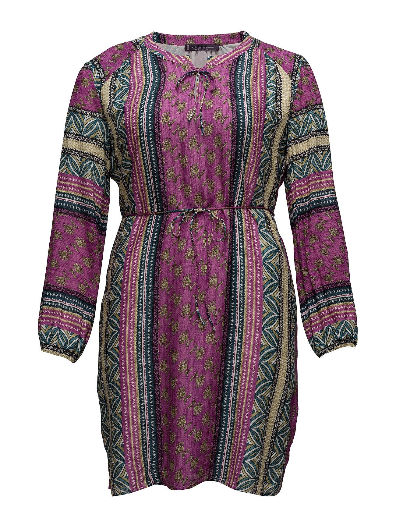 Flowy Printed Dress Violeta by Mango Knælange & mellemlange til Damer i